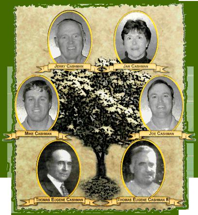 Cashman Family Tree - Thomas Eugene Cashman, Thomas Eugene Cashman II, Mike Cashman, Joe Cashman, Jerry Cashman, Jan Cashman