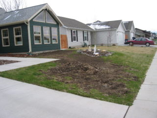 Newer home in west side of Bozeman with some existing landscaping needed some revisions